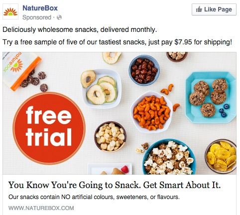 Facebook Ads di NatureBox