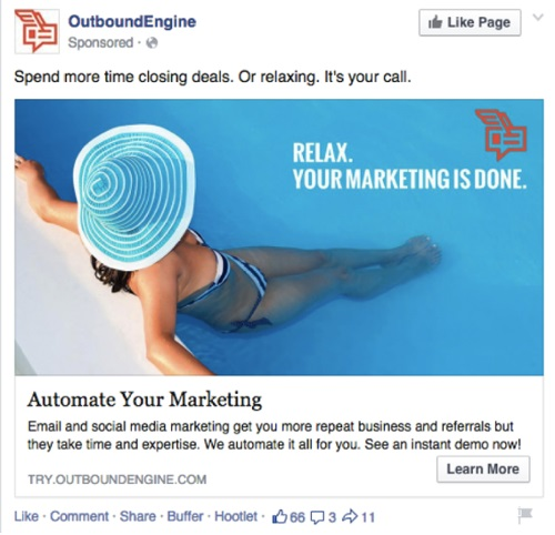 Facebook Ads di OutBound Engine
