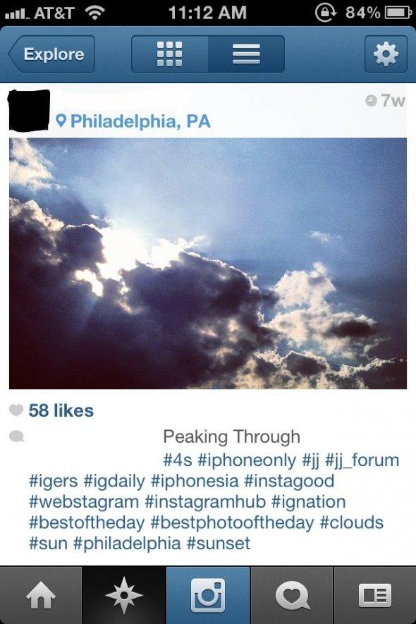 Inserire gli hashtag nelle foto