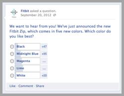 Fitbit sondaggio clienti