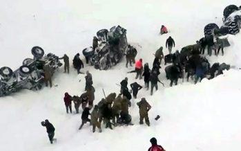 Ventuno morti sotto le valanghe in Turchia
