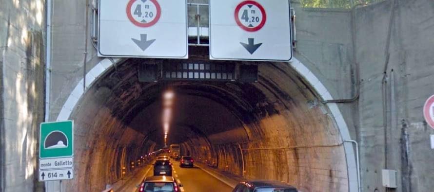 A7, possibili disagi per lavori Galleria Monte Galletto